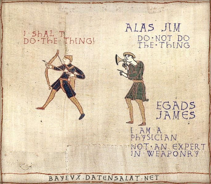 Who thinks this stuff up? Star Trek translated into the style of the Bayeux Tapestry. so hilarious!