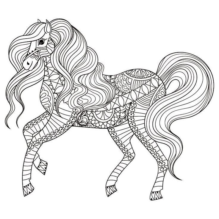 Bildergebnis für malvorlage pferd mandala Horse coloring