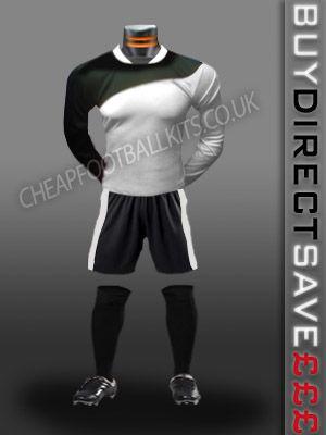 Champion Discount Football Kit White/Black