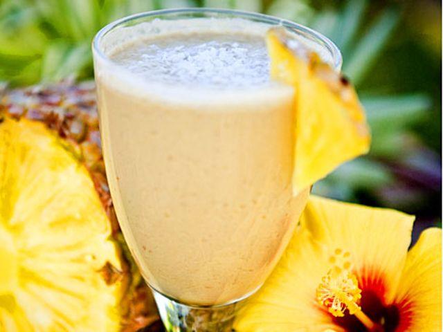 Ananasshake med proteinpulver (kock Sanna Ehdin)