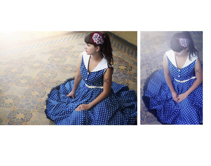 """Dress """"Vladimir"""" from Lazy 50's Eye, and Flower fascinator made by ZZVintage"""