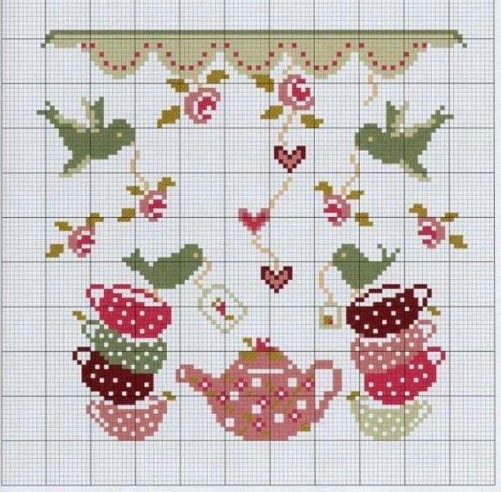 903 best images about inspiration tea time fruit vegis for Cross stitch kitchen designs