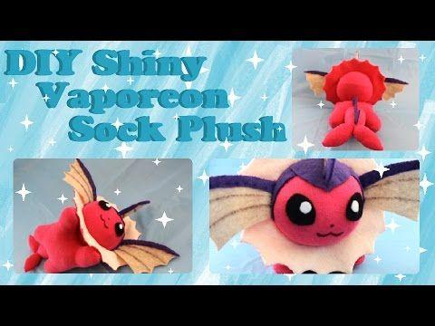 ❤  DIY Shiny Vaporeon Sock Plush! How To Make A Pokemon Plushie~ ❤ - YouTube