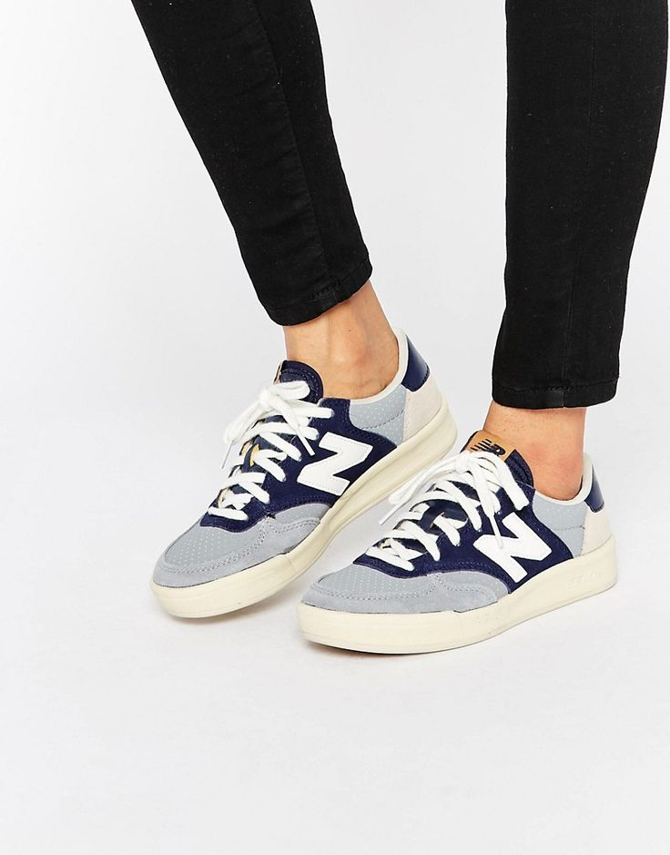 Image 1 ofNew Balance Court 300 Trainers In Blue & Grey