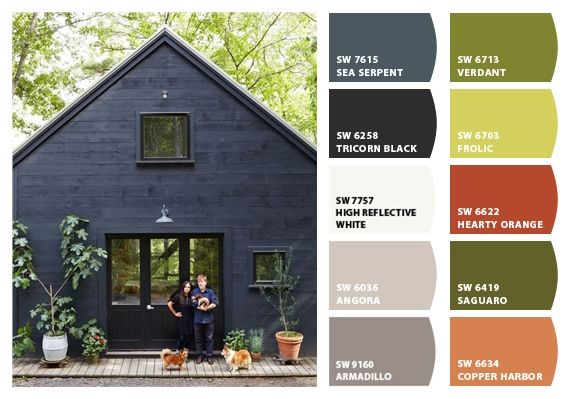 Dark Exterior Paint Colors For