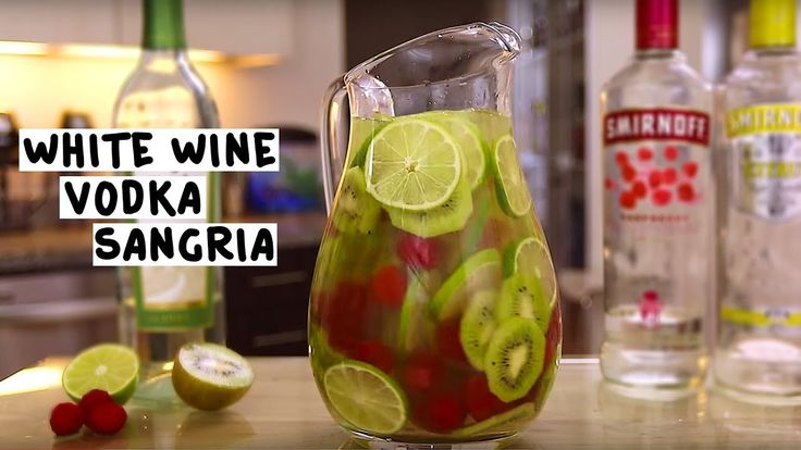 WHITE WINE VODKA SANGRIA 1 oz. (30ml) Citrus Vodka 1 oz. (30ml) Raspberry Vodka 1 Bottle of White Wine 3 oz. (90ml) Soda Water 5 Limes Cup of Fresh Raspberries 5 Kiwis PREPARATION: 1. Slice limes. 2. Peel and slice kiwis. 3. Add kiwis, limes and raspberries to a pitcher. 4. Add citrus vodka, raspberry vodka, white wine and soda water. 5. Chill in refrigerator. 6. Stir and serve. *Wine can be a pinot grigio, sauvignon blanc or a moscato. DRINK RESPONSIBLY!