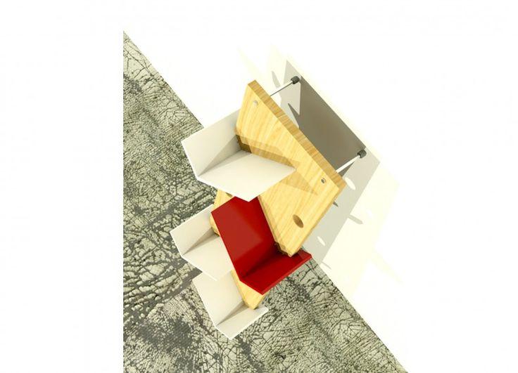 Freemove è una libreria da parete pensata per essere collocata dove si desidera con estrema facilità. Semplicemente si appoggia su di una parete sfruttando l'inclinazione desiderata. Materiali utilizzati - Massello di abete proveniente da foreste gestite con criteri di sostenibilità ambientale, tinto a mano con antichizzante.   - Pannelli di fibra di legno (mdf) laccato con vernici a base d'acqua
