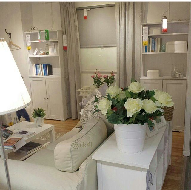 beige cream white ektorp flowers and arstid lamp ikea livingroom pinterest cream white apartment ideas and apartments