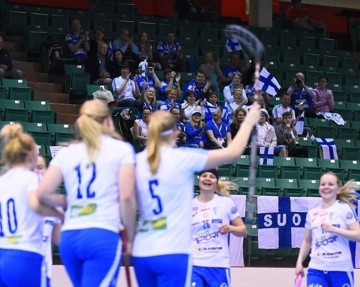 regram @u19wfc Finland beat Latvia in a commanding win. Finland brought their cheering squad with them visibly happy of their victory.   #u19wfc #floorball #innebandy #salibandy #unihockey #worldchampionship #Belleville #BayofQuinte #TeamFinland by floorball.fi