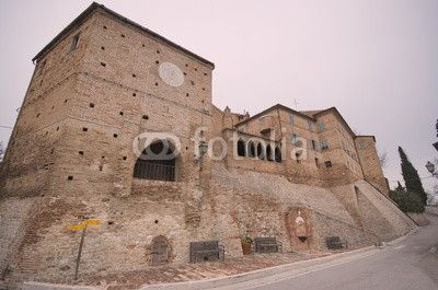 Monte Vidon Combatte, marche region, fascinating medieval old town centre