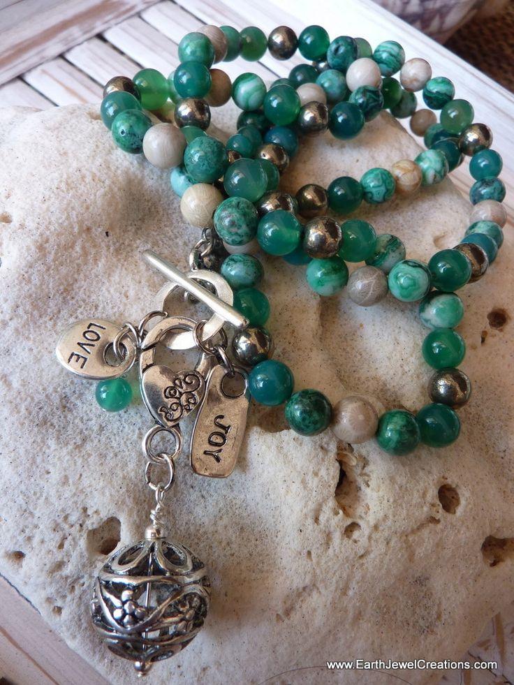 Joy & Love Necklace & Wristwrap - Inspirational handmade gemstone jewellery Earth Jewel Creations Australia