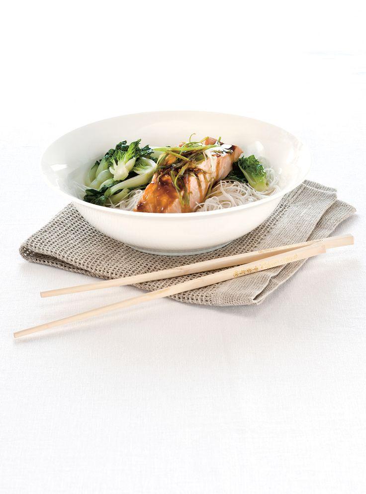 Recette de Ricardo de saumon asiatique à la vapeur