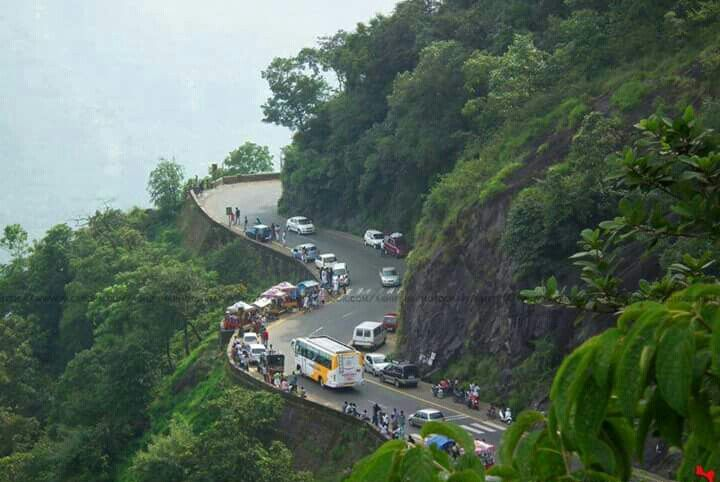 Ghat road in Wayanad Kerala