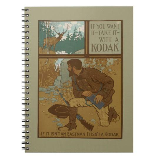 NYPL   Kodak Vintage Advertisement Spiral Notebook
