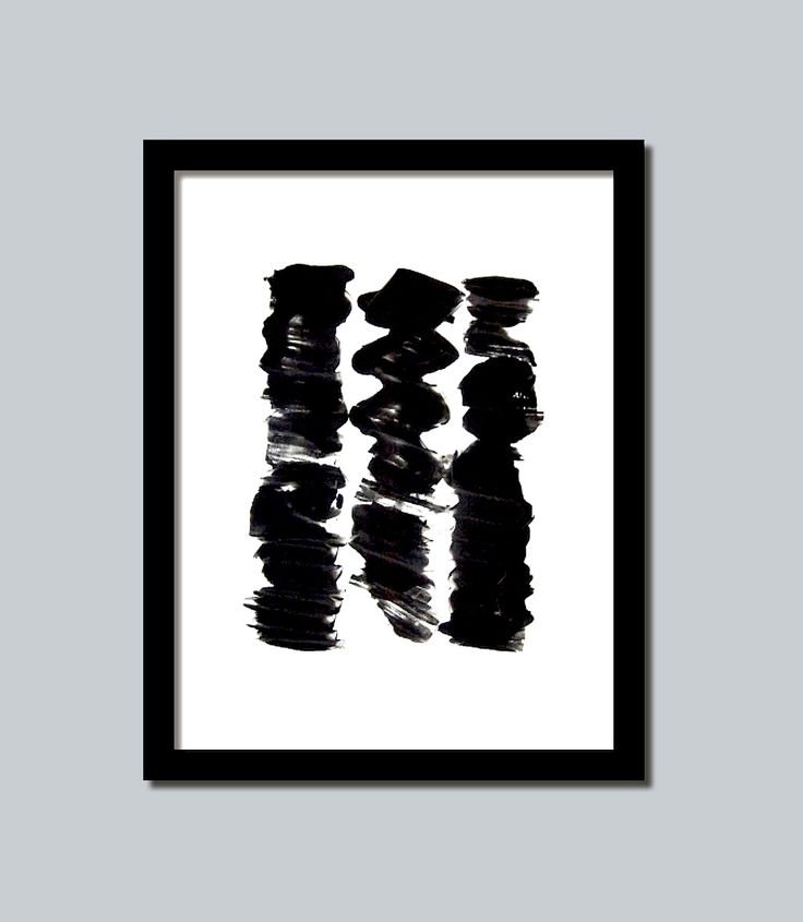 black and white 3 modern art print abstract picture poster wall decor contemporary this print would be beautiful to add to your home or business and brings a modern esthetic www.etsy.com/shop/loonhouse