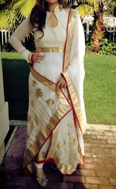 #Stunning #suit in pure #georgette with patch work on the dupatta.. Visit Our Store: http://www.ethnicwholesaler.com/salwar-kameez/