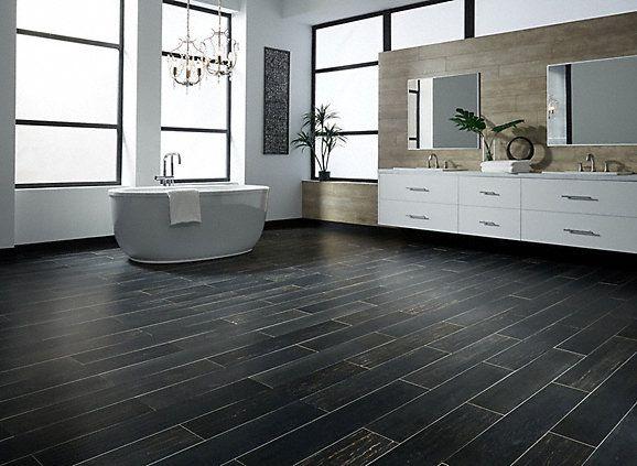 "36"" x 6"" Iron Gate Oak Porcelain Tile - Avella XD   Lumber Liquidators"