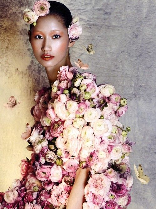 ❀ Flower Maiden Fantasy ❀ women & flowers in art fashion photography - Asian Influence