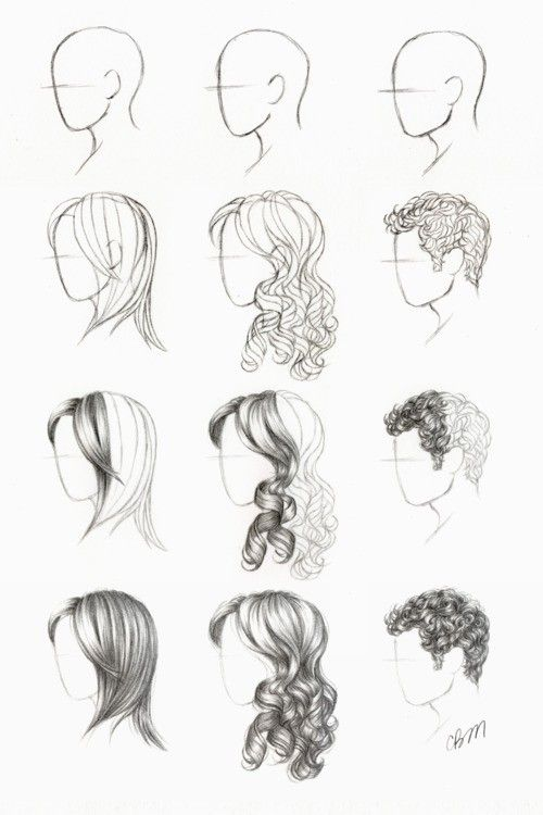 Imagine that. / how to draw hair
