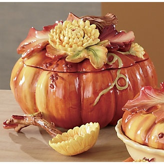 Pumpkin Soup Tureen.: Autumn Fall Decor, Fall Harvest, Fall Halloween Thanksgiving, Soup Tureen, Autumn Tureen 1, Fall Tablescapes, Country Door, Ceramics Ideas, Autumn Thanksgiving