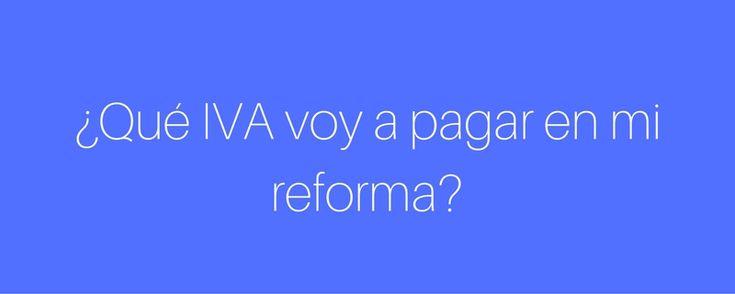Para aplicar el IVA reducido en una reforma ¿qué condiciones hay que cumplir?