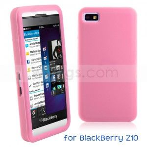 Jelly Color Soft Silicone Case for BlackBerry Z10 Pink - Witrigs.com