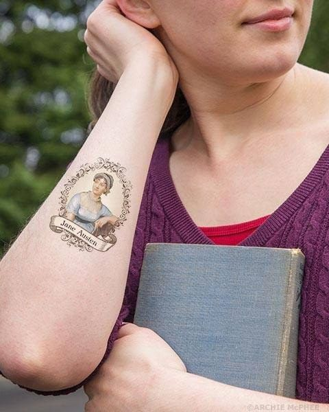 8 Jane Austen Products You Probably Never Knew Existed: Jane Austen Temporary Tattoos