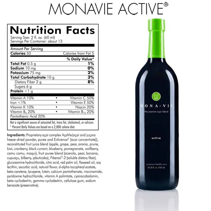 MonaVie Active juice ingredients