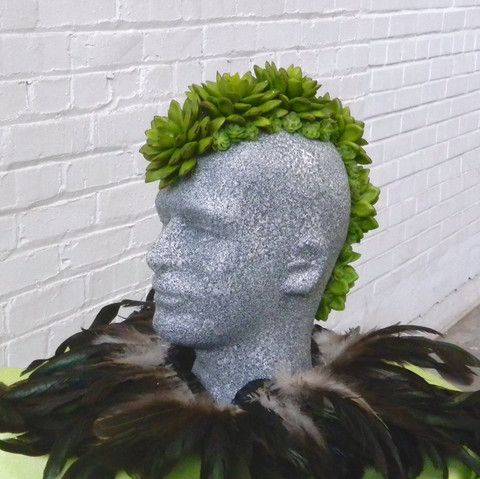 DIY Tutorial for a Succulent Display on Male Mannequin Head