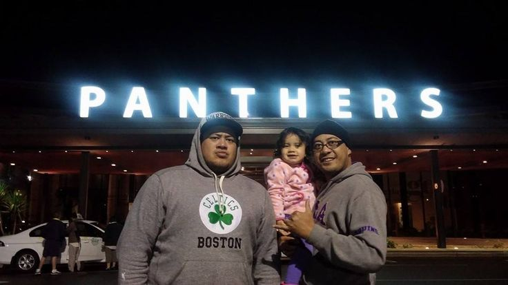 Husband with his brother at the Panthers club in Penrith