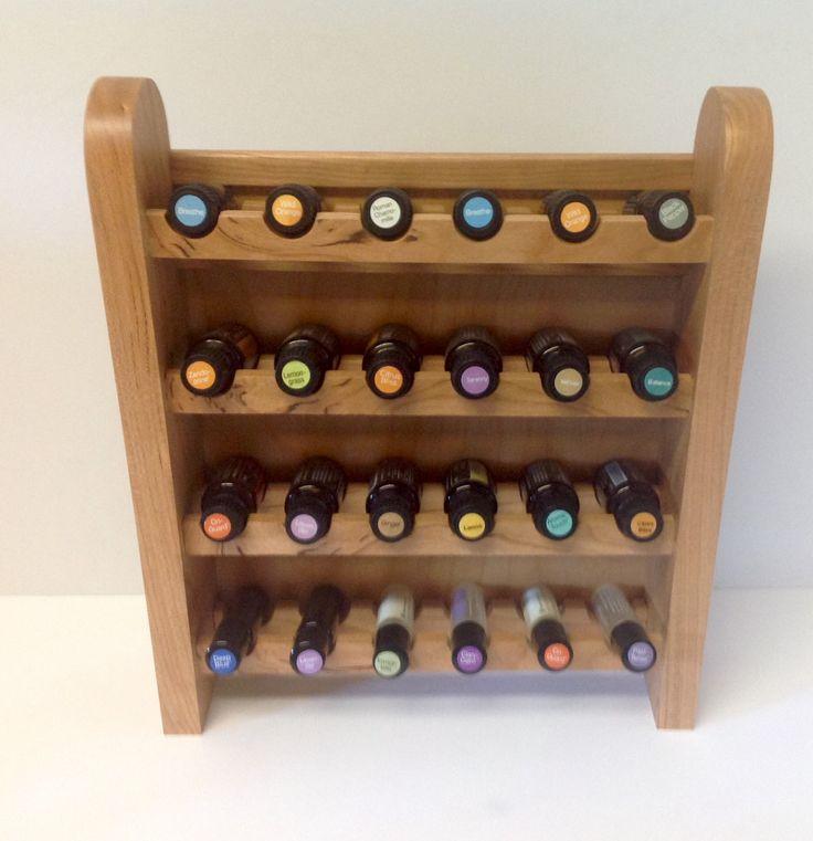 Essential Oil Shelf Cherry Wood Storage Custom Made Doter