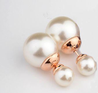 Новое Распродажа Горячие Жемчуг EarringsReal Новое Распродажа горячая Марка 18 К позолоченные Серьги Стержня для Женщин Анти Аллергии # RG87056GoldWhite