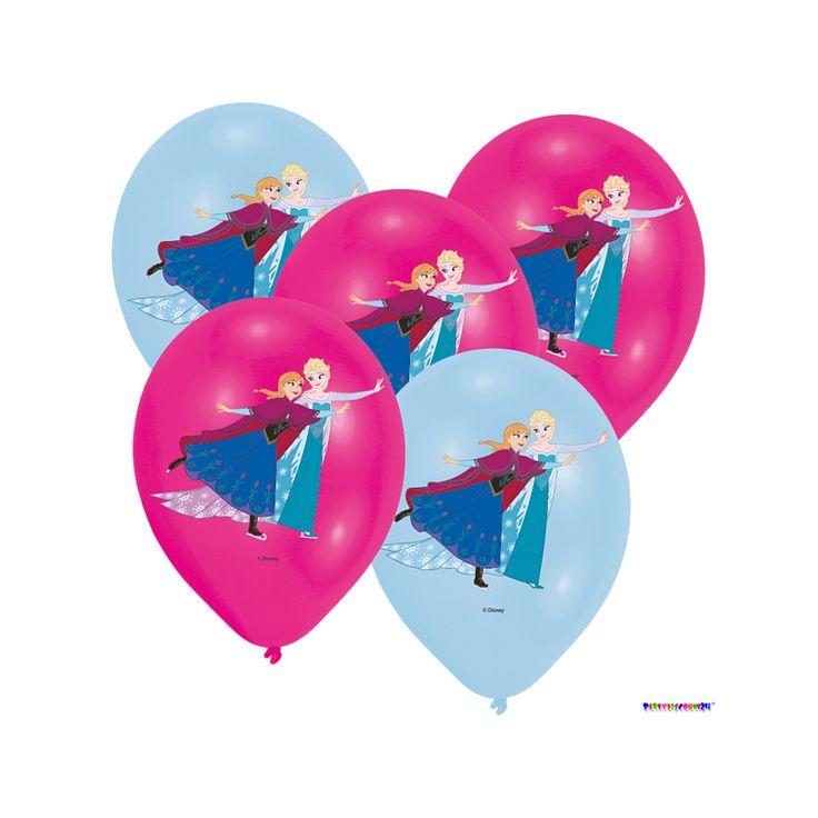 Luftballons Die Eiskönigin (Frozen) - Elsa & Anna Ø 28 cm 6 Stück