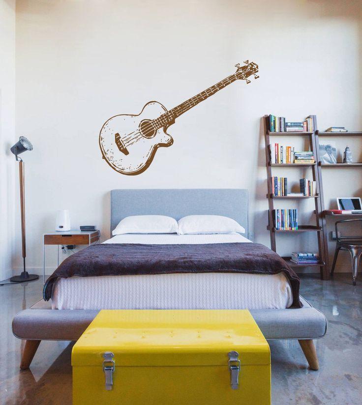 ik734 Wall Decal Sticker guitar music song artist notes chords bedroom teens