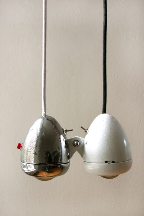 vintage bike light pendants - For more great pics, follow www.bikeengines.com