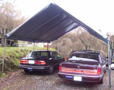 17 best images about do it yourself portable carport for Boat garage kits