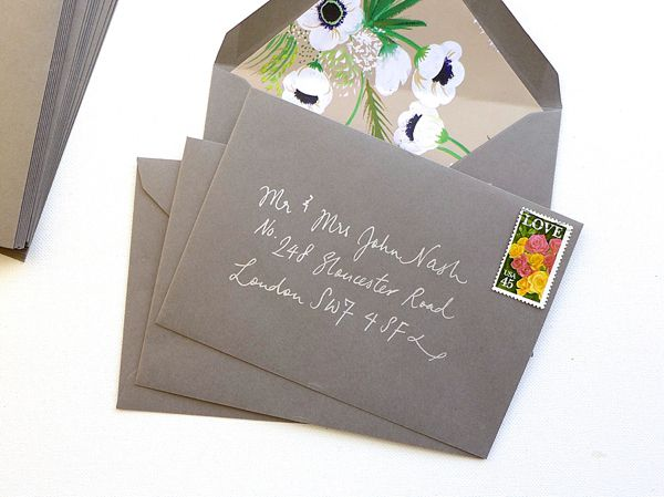 Budget Friendly Tips to make your invitations unforgettable.. Add your favourite paper inside your envelopes for an unexpected pop of colour! Consider old wall paper, wrapping paper or make your own handmade paper - the possibilities are endless!  DIY Fancy Wedding Envelope Liner Tutorial by Berinmade for Love My Dress