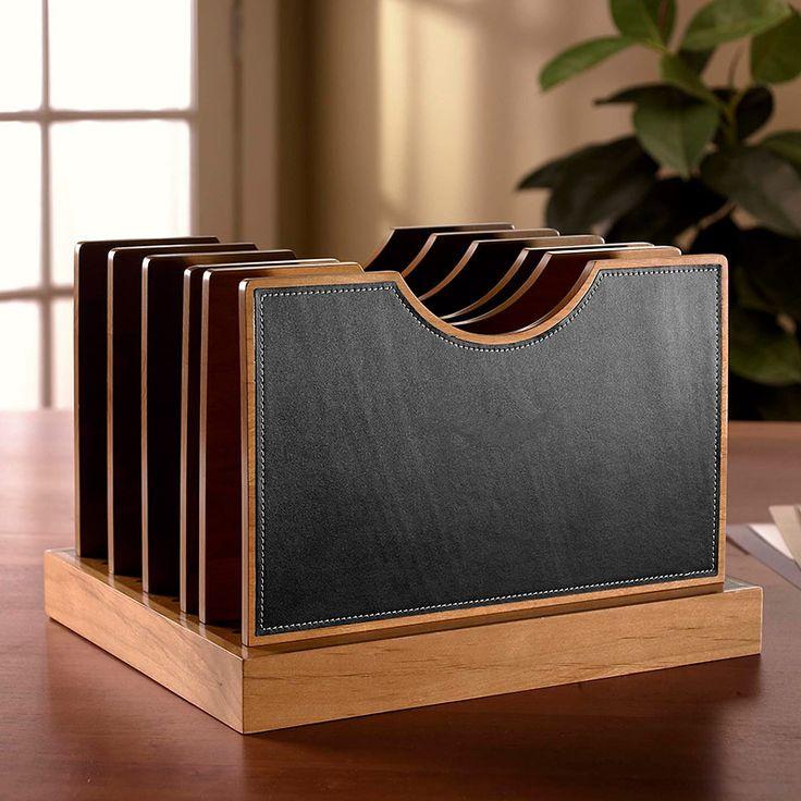 Cubi Adjust A File Large Leather Desk Organizer