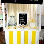 Vintage Lemonade Stand. Perhaps not quite so yellow