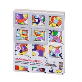 Educational puzzle for children, developing concentration and perception. It improves the visual analysis and the ability to memorize and match. The task is to search and match the picture elements to the picture itself by the use of movable frames. Made by Neo-Spiro.