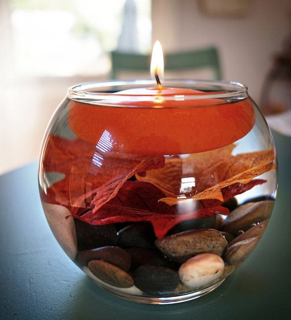 Fall Floating Candle Centerpieces: Etsy Centerpiece
