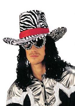 Funky zebra print hoed met haar. Deze funky hoed is voorzien van een zebra motief en heeft een band. Aan de hoed zit krullend haar tot aan de schouders. Indien u de zwarte versie kiest, ontvangt u de hoed van de afbeelding. Indien u voor roze kiest, ontvangen u de hoed met roze zebra print en roze krullen haar.