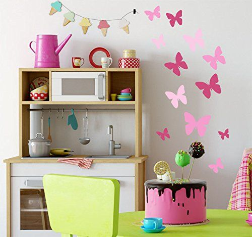 Butterfly Decals  Hot Pink, Pretty Pink U0026 Soft Pink Room ... Https