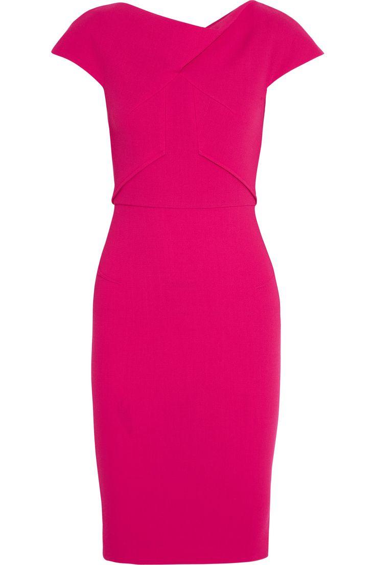 ROLAND MOURET Ivy wool-crepe dress. #rolandmouret #cloth #dress
