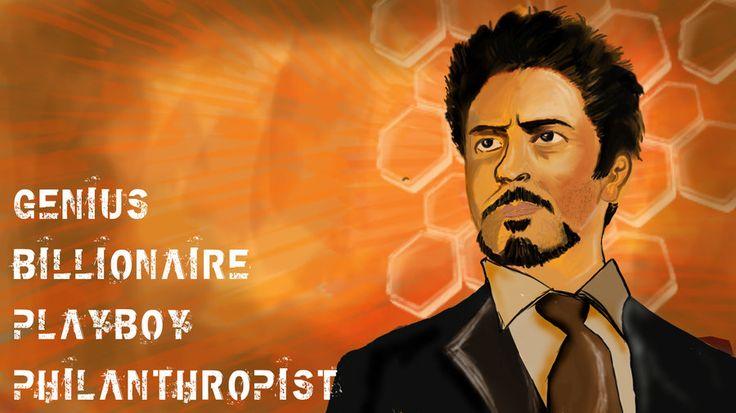 Tony Stark AKA Iron man by ~mohanmx