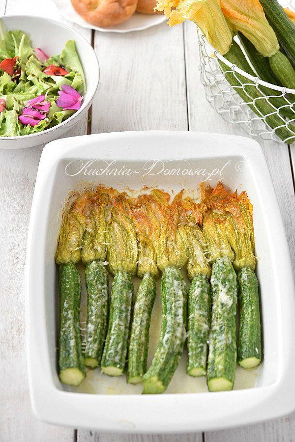 Zapiekane Kwiaty Cukinii Z Mozzarella Recipe Vegetables Food Asparagus