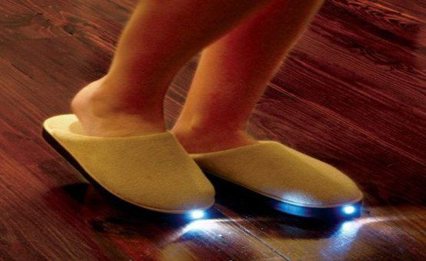 Amazing Inventions LED Slippers | www.piclectica.com #piclectica