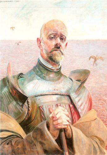 Self-portrait in an armour - Jacek Malczewski