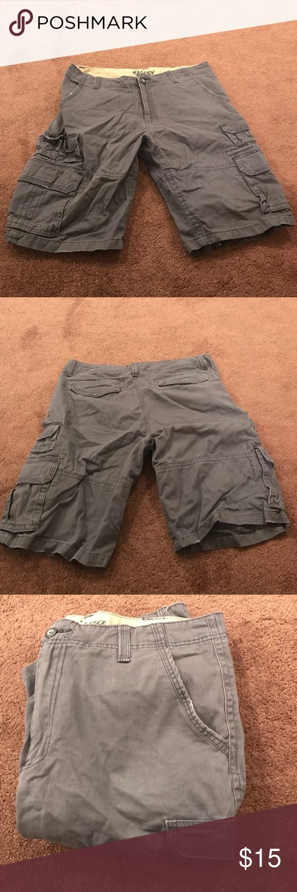 Grey Cargo Shorts for Men Worn once cargo shorts; Size 34 Shorts