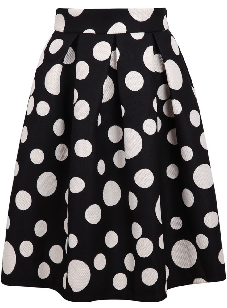Shop Black Polka Dot Flare Skirt online. Sheinside offers Black Polka Dot Flare Skirt & more to fit your fashionable needs. Free Shipping Worldwide!